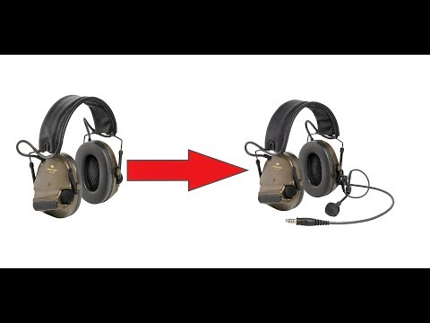 How to upgrade your Peltor Comtac XPI (or XP)  to a communication headset