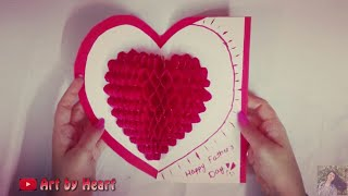 DIY Popup 3D 💝 heart card tutorial | Art by Heart | Birthday, anniversary, friendship day