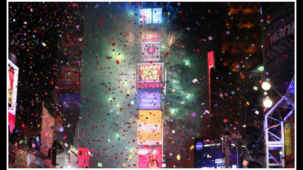 Times Square Ball Drop 2015 New York City New Year s Eve   YouTube