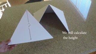 How to make the true pyramid model (using Pi and Pythagoras equation)