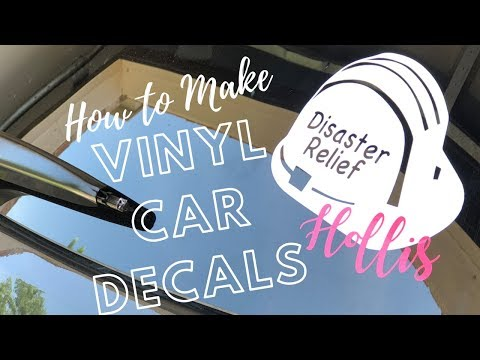 How To Make A Vinyl Car Decal With Cricut