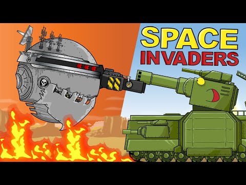 """""""Space Invaders in Valhalla World"""" - Cartoons about tanks"""