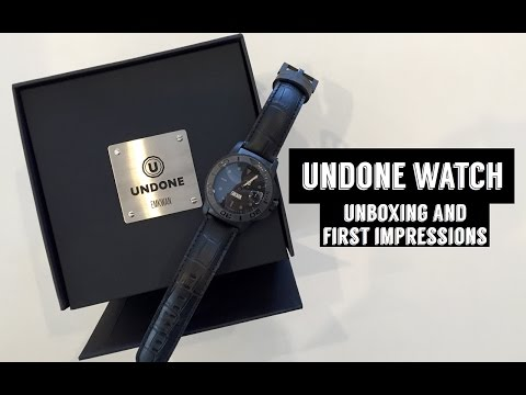 UNBOXING MY CUSTOM WATCH FROM UNDONE !!!