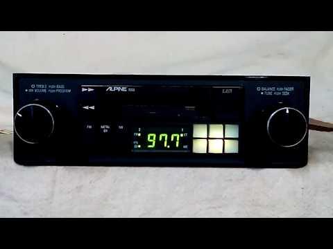Vintage Alpine 7163 AM/FM cassette car stereo #7