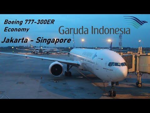 ✈️ FLIGHT REPORT ✈️ Garuda Indonesia - Jakarta to Singapore - Boeing 777-300ER
