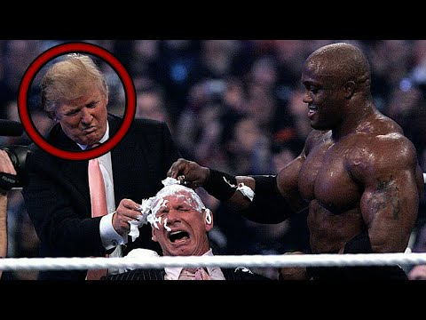 USA's President Donald Trump In WWE Wrestlemania 23, Attacks Vince McMahon | Bobby Lashley VS Umaga