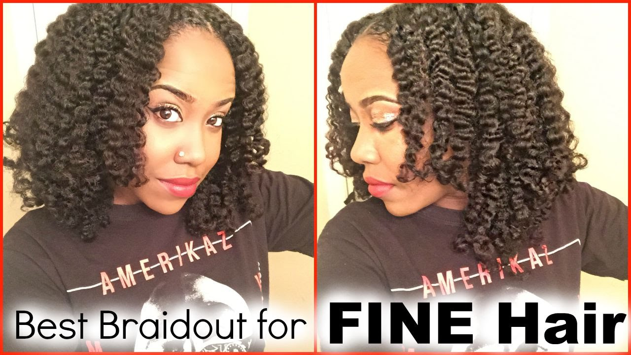 Blowout And Braidout For Fine Natural Hair Youtube