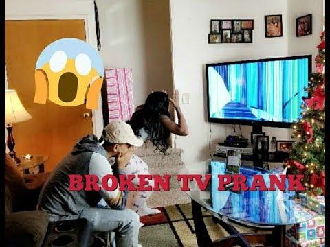 BROKEN TV SCREEN PRANK ON WIFE!!! (GET'S VERY ANGRY)