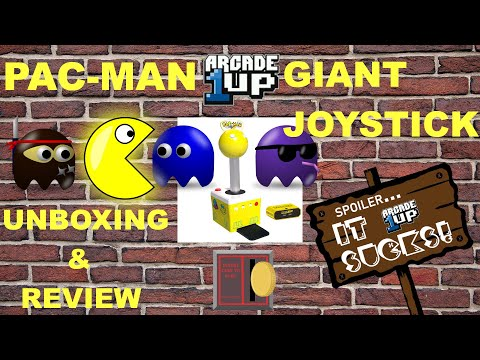 Arcade1UP Pac-Man Giant Joystick HDMI Console Review from Harrison Hacks