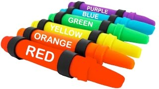 Learn Colors of the Rainbow with Giant Play Doh Crayola Pencils RainbowLearning