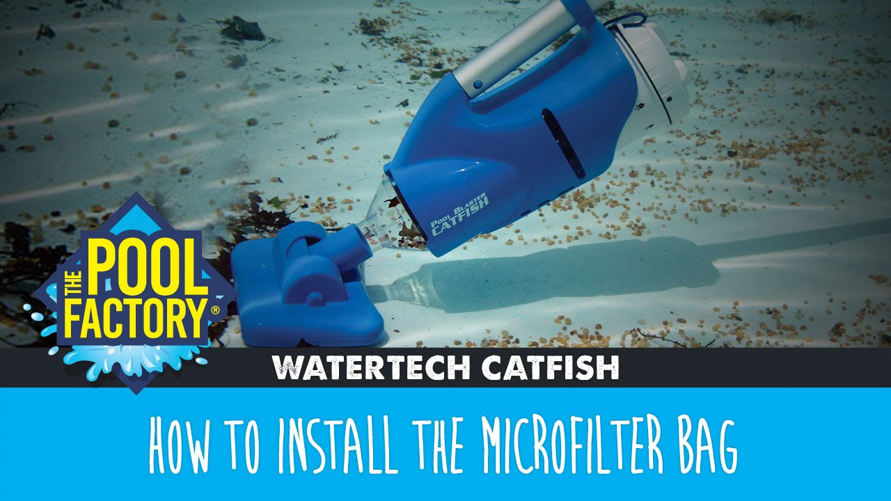 Pool Blaster Catfish Zubehör Watertech Catfish How To Install The Microfilter Bag Youtube
