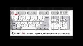 Как подружиться с компьютером   Урок №1  самые нужные клавиши   mp4