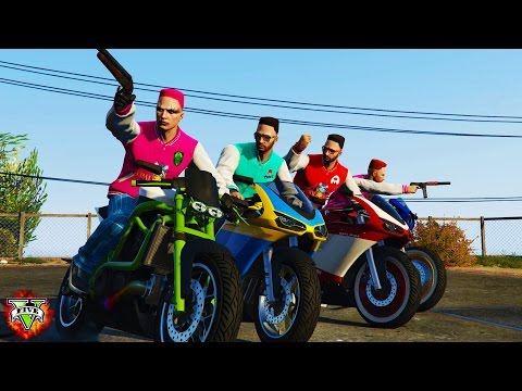 GTA 5 Playing Motorcycle STUNT Races With Friends :D