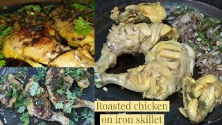 Chicken roasted on tawa/iron skillet! It's too good to resist!Anyone cooking will be praised