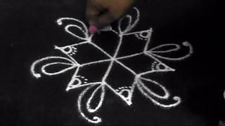 5 to 3 dots kolam a simple rangoli design
