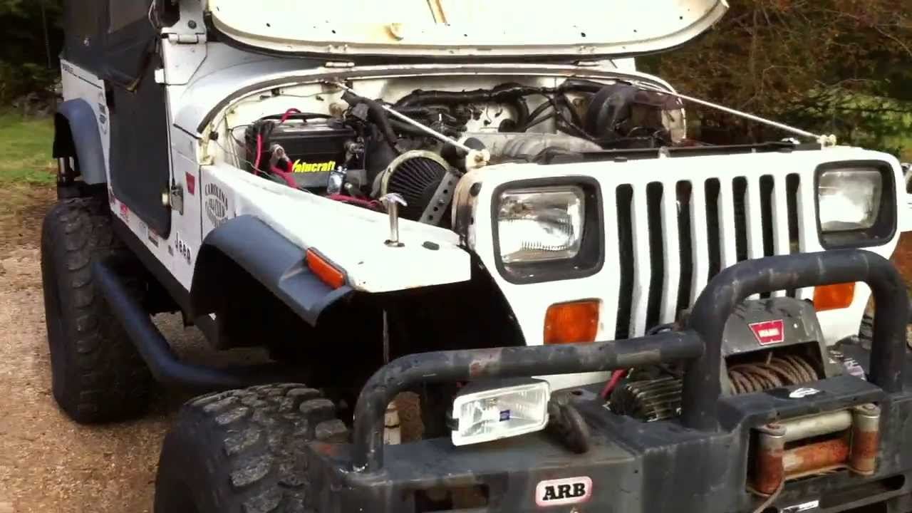 small resolution of 92 jeep yj rockcrawler w ford 302 v8 c6 np208 youtube hyundai wiring harness 302 wiring harness jeep