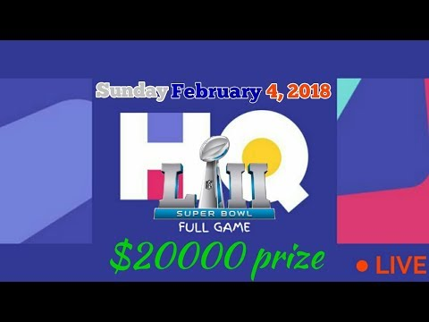 HQ Trivia - February 4, 2018 Sunday 8 PM! * Super Bowl Halftime Show Special *