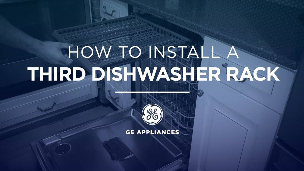 gpf3rack dishwasher 3rd rack installation