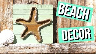 BEACH ROOM DECOR -DIY STARFISH BEACH ROPE PALLET