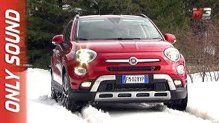 New fiat 500X 2018 - first snow test drive only sound