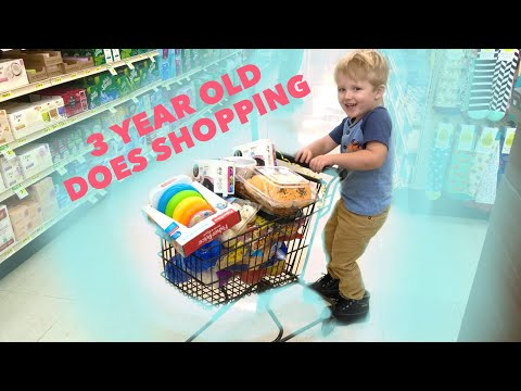3 Year Old Toddler Does The Grocery Shopping!