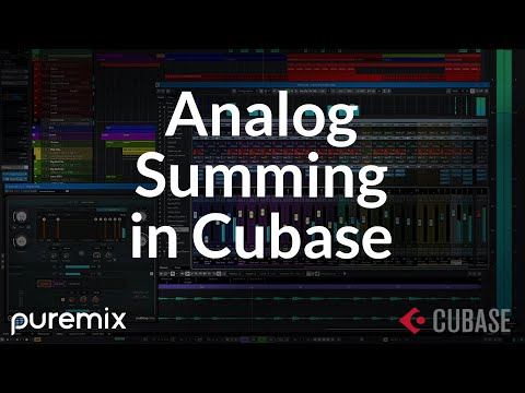 Analog Summing: Cubase Session Setup