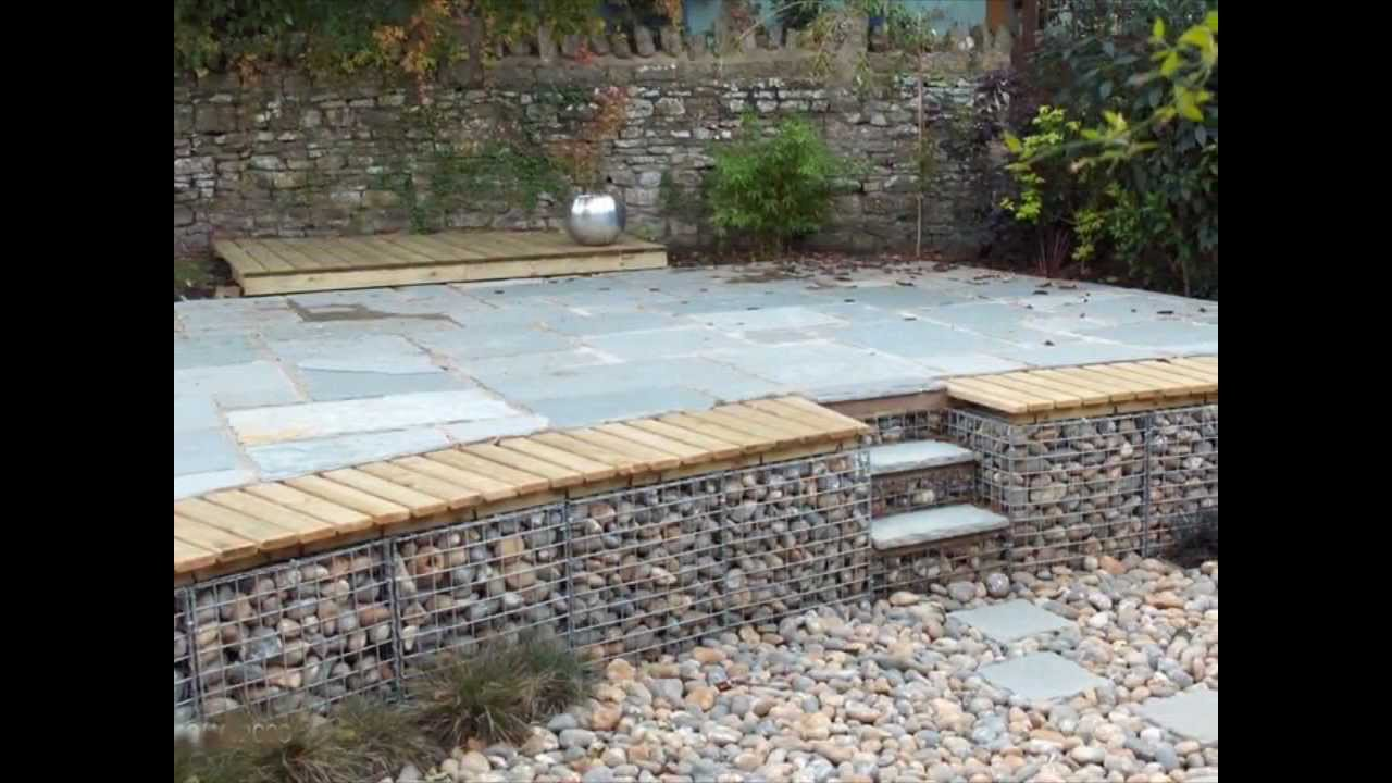 Retaining Wall Seating Gabion1 Retaining Wall Ideas Aus Youtube