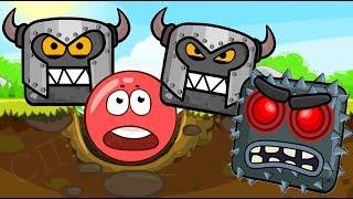 ОГО ! МУЛЬТИК про ЧЕРВОНИЙ КУЛЬКА ! Пригода Квадратів ! За мотивами гри Red Ball 4 для дітей !
