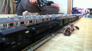 KATO C62-2黒貨車バック牽引