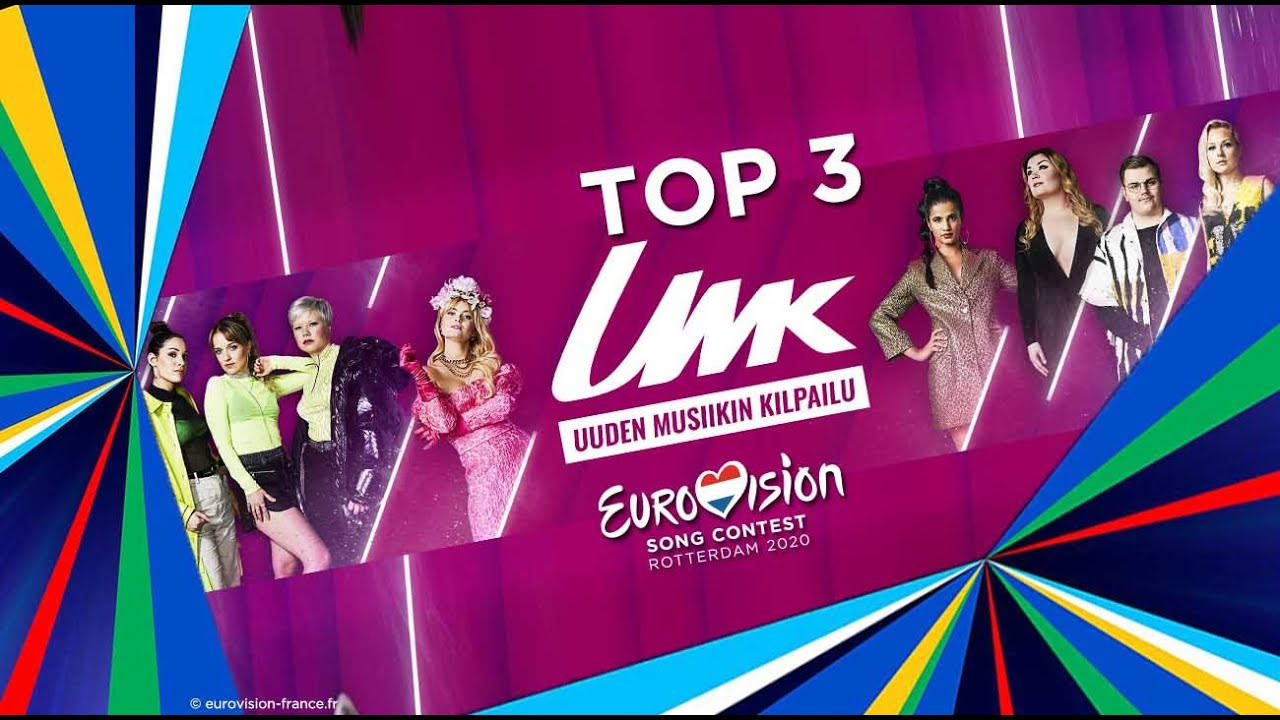 Uuden Musiikin Kilpailu 2020 | TOP 3 | EUROVISION 2020 | Finland 🇫🇮 Finlande