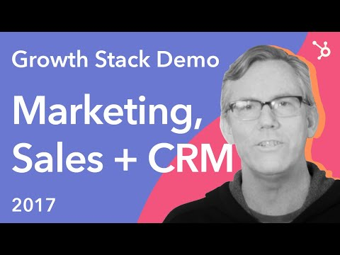 HubSpot Growth Stack Demo: Marketing, Sales + CRM (2017)