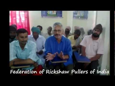 Rickshaw Pullers Training Program Bharatpur Rajsthan