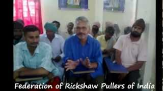 Rickshaw Pullers Training Program Bharatpur Rajsthan