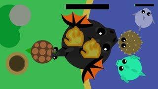 Mope.io Best Black Dragon Trolling// Turtle Eats A Black Dragon!! - Re-Uploaded