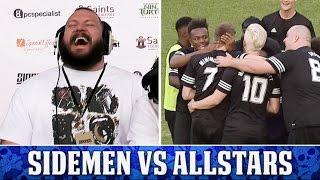 SIDEMEN FC VS YOUTUBE ALLSTARS   TRUE GEORDIE HIGHLIGHTS