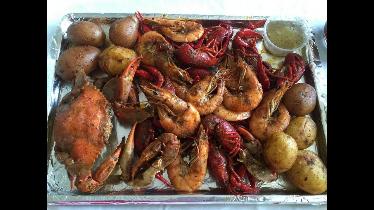 Seafoods Mukbang (eating Video)shrimp,crawfish And Crab!!! 2016