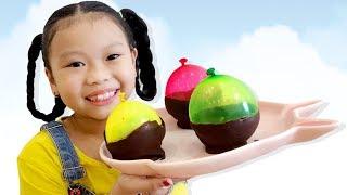 Kem Cốc Bóng 3 Màu ❤Susi kids TV❤
