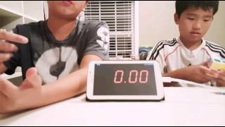 Brother vs Brother rubik's cube battle!
