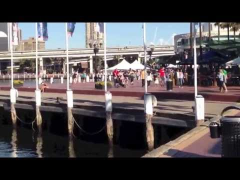 Sydney's Darling Harbour - A Walkthrough In HD