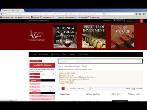 How to find the best wines on Investintowine.com
