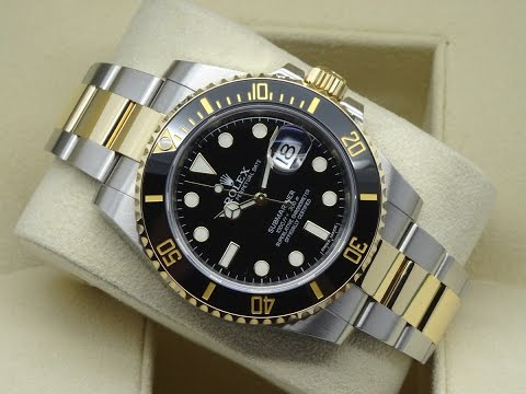 The Beauty Of Rolex Submariner 116613ln Black Two Tone 40 Mm Steel And Yellow Gold Luxury Watch