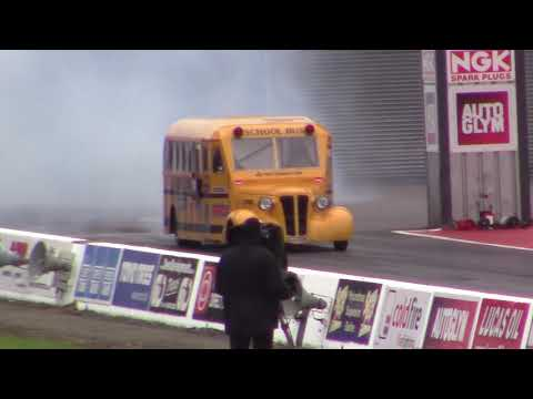 Jet School Bus - Santa Pod European Finals 2017
