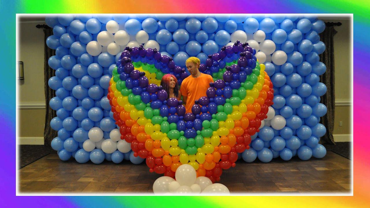 Rainbow Heart Balloon Art Youtube