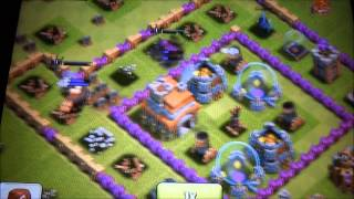 Clash of clans attacked with 1 barbarian king 1 archer queen 1 pekka ...