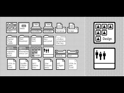 Xerox Parc • Démonstration de l'interface graphique (1982)