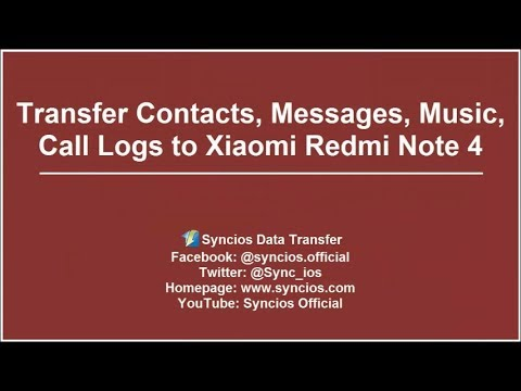 Transfer Data to Redmi Note 4| How to Transfer contacts