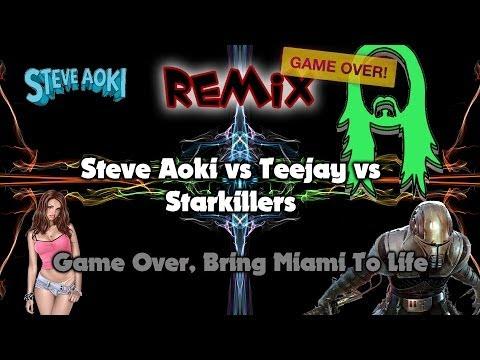 Steve Aoki vs Teejay vs Starkillers - Game...