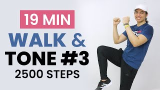WALK and TONE #2 • 19 MIN CARDIO WORKOUT • 2500 Steps • No Equipment • Keoni Tamayo