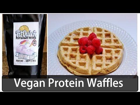 Vegan Protein Waffle Mix   Cake Batter Flavor   Vegan Bodybuilding