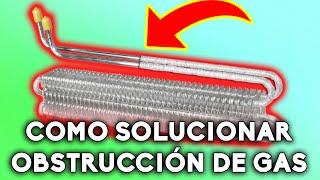 Cómo solucionar obstrucción de gas en una refrigeradora no frost | El capilar